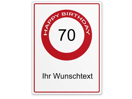 Happy-Birthday-Schild 70 Jahre