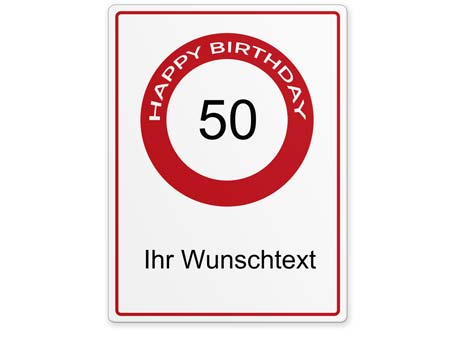 Happy-Birthday-Schild 50 Jahre