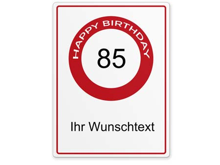 Happy-Birthday-Schild 85 Jahre